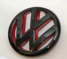 VW Polo  6R  GTI ,GTD,Turbo  Logo Zeichen Emblem  schwarz Hochglanz / Rot