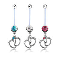 1X(Flexible Pregnancy Maternity Belly Navel Bar Ring Body Piercing Baby FeeU6N9)