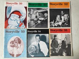 LEGENDARY JAZZ MAGAZINE 'STORYVILLE' ISSUES 50-55, 1974 COMPLETE!