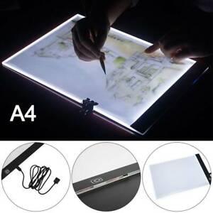 A4 Artist LED Drawing Board Tracing Table Stencil Tattoo Display Light Box