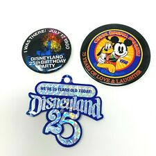 Disneyland Park Anniversary Buttons 1980 And 1998 75 Years Of Love