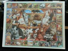 Vintage White Mountain Puzzles World Of Cats 1000 Pc Puzzle Sealed & Brand New