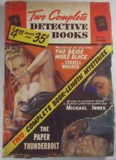 TWO COMPLETE DETECTIVE BOOKS PULP #72 WINTER 1952 CORNELL WOOLRICH MICHAEL INNES
