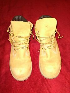 "Timberland Mens 6"" Work Boots Brown Leather Lace Up Rugged Size 6M"
