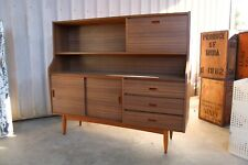 Small Mid Century Teak Laminate Wall Unit Buffet Drinks Cabinet