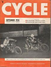 1950 September Cycle - Vintage Motorcycle Magazine