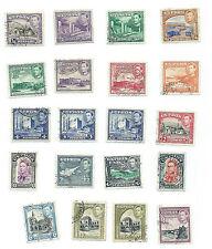 Cyprus 1938 George VI definitive set fine used incl. 18pi shade