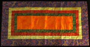 Altardecke für tibetische Ritualgegenstände - 79x42 cm - Brokat Handarbeit Nepal