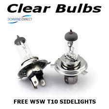 H4 100w (472) Clear Standard Xenon Car Headlight Bulbs 12v + W5W Sidelights Y