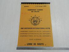 1979 RALLY COPPA AUTOBIANCHI A112 ABARTH CRITERIUM PILOTA CORIO 112 LIBRO NOTE
