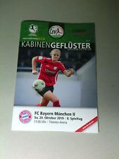 Neues AngebotProgramm FSV Gütersloh - FC Bayern München II - 20.10.2019 - 2.Liga Frauen