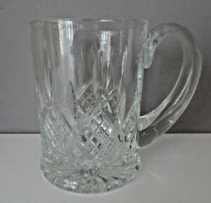 STUART CRYSTAL GLASS HAMILTON PATTERN ONE PINT TANKARD