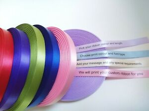 25mm HIGH QUALITY PERSONALISED RIBBON BIRTHDAY, XMAS, EASTER, CHRISTENING & MORE
