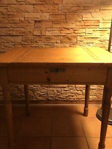 TOP Schreibtisch Stehpult Rednerpult Tisch antik Weichholz.