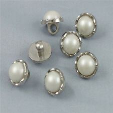 Exquisite 40x Ivory Resin Faux Pearl Round Pattern Shank Bottons Sewing Crafts