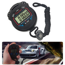 Digital LCD Stopwatch Sports Counter Chronograph Timer Odometer Watch Waterproof