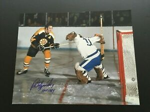 PHIL ESPOSITO  AUTOGRAPHED 16 X 20  BRUINS ACTION PHOTO  J.S.A. AUTHENTICATED