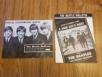 The Beatles original U.S. fan club 1964 & 1965 'Bulletins' w/ Ringo portrait vg+