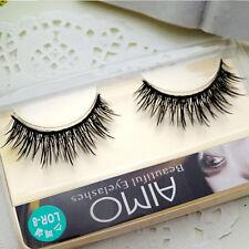 Black Natural False Eyelashes Cross Fake Eye Lashes Messy Handmade Fashion