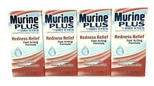 Murine Plus For Dry Eyes Lubricant Redness Reliever Eye Drop Fast Acting 15ML