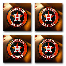 Houston Astros Baseball Rubber Square Coaster set (4 pack) SRC2010