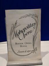 Metropolitan Opera 1939 Schedule Book