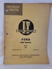 Ford 6000 Tractor Service I&T Manual