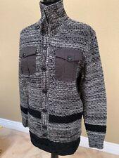 GUESS women's  Long Sleeve Knitwear Cardigan Turtle Neck Coat Jacket Sweater L