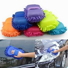 Hot Auto Car Sponge Washing Brush Microfiber Chenille Cleaner Clean Accessories
