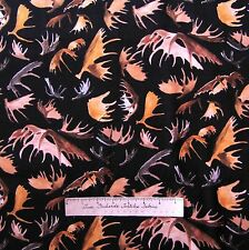 Riverwoods Fabric - Moose Antlers on Black - Wild in the Wilderness Cotton YARD