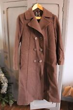Vintage - Antica giacca lunga marrone - Lana - Cappotto - Taille 40