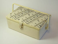 Sewing / Storage Box withTape Measure Design Top, 26 cm x 17 cm