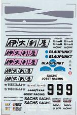 #9 BLAUPUNKT Porsche 956 - 962 1/24th - 1/25th Scale Waterslide Decals