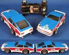 1980 Ideal TCR SLOTTED Slot Car RW&B DATSUN 280Z 4693-8