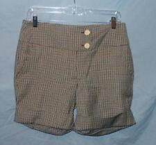 JOHNSON PLAID WOOL CUFFED SHORTS SZ 6 NWTGS $265