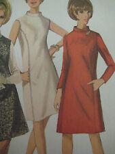 Vintage Simplicity 6676 BIAS MANDARIN COLLAR DRESS Sewing Pattern Women Sz 12