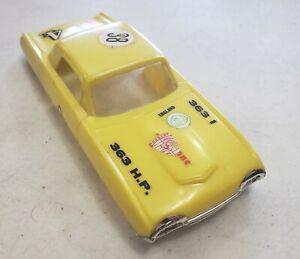 Eldon 1/32 Scale Slot Car Body 1963 Ford Thunderbird Yellow