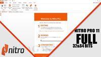 Nitro Pro 11 PDF EDITOR Creator 2018 Converter Instant Delivery FULL ACTIVATED