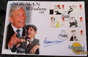 FDC Autographed Editions signed Norman Wisdom, Comedians stamps, 23 Apr 1998
