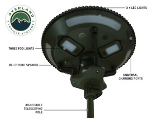 Overland Vehicle Systems UFO Solar Light, Light Pods and Bluetooth Speaker