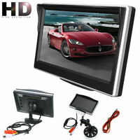 "5"" Backup Camera Monitor Parking System Kit Car Rear View Reverse Night Vision"