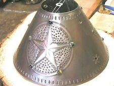 Metal Tin Punch Rustic Lamp Shade Med