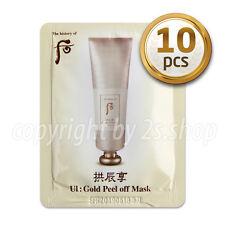 [The history of Whoo] UI:Gold Peel Off Mask 4ml x 10pcs Korean Cosmetics