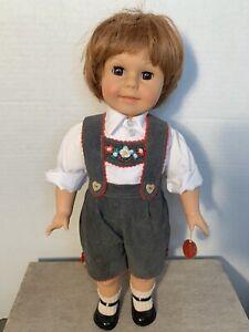 "ENGEL PUPPE Boy DOLL 18"" GERMANY With Original Hand Tag!"
