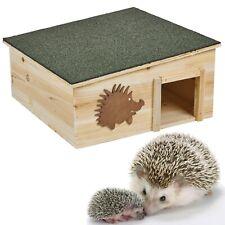 Wooden Hedgehog House Detachable Rainproof Bitumen Roof Hibernation Nesting Box