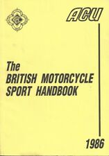 Original Vintage 1986 ACU Handbook British Motorcycle Sport - Auto Cycle Union