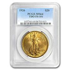 1926 $20 St. Gaudens Gold Double Eagle MS-64 PCGS (TDO FS-101) - SKU #89019