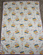 Vintage Crib Quilt Handmade Baby Blanket Noah's Ark Cotton Flannel