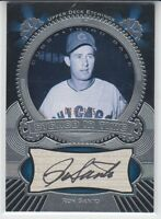 2004 Upper Deck Etchings Black /375 Autograph Ron Santo Chicago Cubs HOF