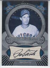 2004 Upper Deck Etchings Black /375 Autograph Ron Santo Chicago Cubs HOF